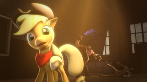 [SFM Ponies] Applejack volume light test by Luke262