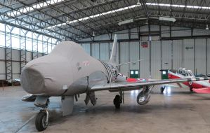 F86a Sabre ,in the hanger duxford by Sceptre63