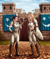 Sylvaine and Alyra by PersonalAmi