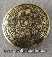 Odin brass belt buckle by TimforShade