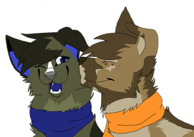 Casey and Kodi by caifers