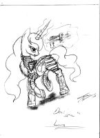 Dead Space: Princess Luna by thelunarmoon