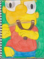 Bart With Slingshot 1 by RozStaw57