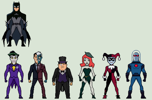 Batman + Rogues Gallery (Justice League Action) by Stuart1001