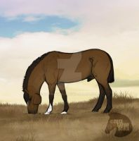 Blue Grazing Animation by SarahScala