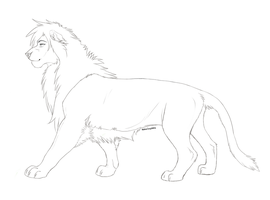Male Lion Template by Soldjagurl