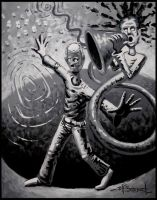 Hitler in a 3 Ring Circus B-W by Jeff1966