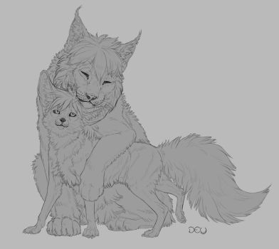 Commission: Kufky and Incrip by DeyVarah