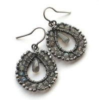 coiled labradorite earrings by annie-jewelry