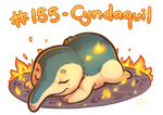 Pokemon #155 - Cyndaquil by oddsocket