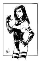Psylocke Inks by MichaelMayne