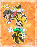 Mario: Bumble Bee Brothers by saiiko