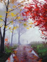 Misty Road by artsaus