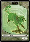 Earth Wolf Token by flamedelf