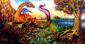 Pink Tailed Dragon by MellissaAstraea