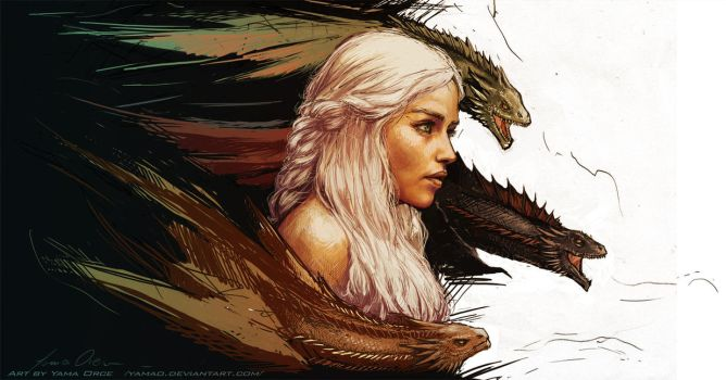 Mother of Dragons by YamaOrce