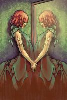 ...ON THE MIRROR COVER by UNDERANANGEL