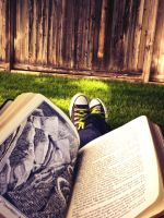 Reading in the Back Yard by HyruleWarrior7955
