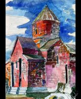 watercolour church by VeIra-girl