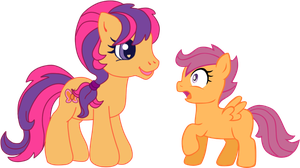 G4 Meets G3.5: Scootaloo by LudiculousPegasus