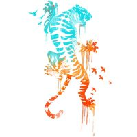 Melted Survival Tiger Shirt by Design-By-Humans