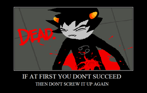 Karkat Vantas Motivational Poster! by unigenousUtinam