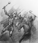Fionulla Battles the Undead by Neothera