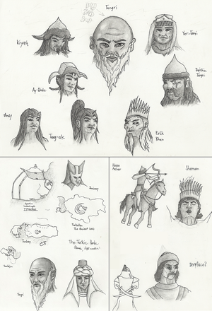 PJO Sketchdump - Turko-Mongol Mythology