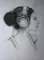 The girl with the headphones by vodoc