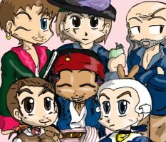 Chibi Pirate Group by Devain