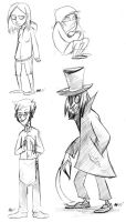 The Haunted Hotel Characters by anniemae04