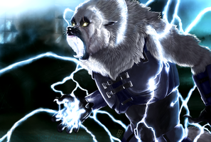 The Lightning Lobo by TeknicolorTiger