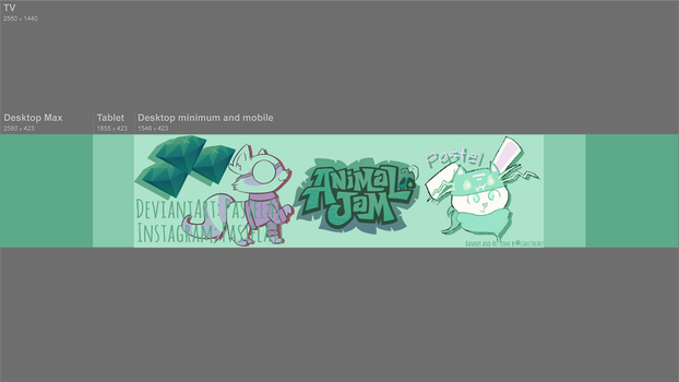 New Youtube Banner For Pastel AJ by 3037426