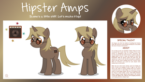 MLP OC Bio Sheet : Hipster Amps by outlaw4rc