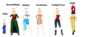 Ember's Age/World Outfit Designs by Smirkaotic