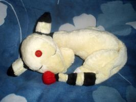 Sleeping Ampharos Commission by StitchyGirl