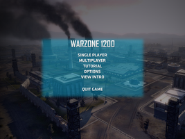 Warzone 2100 menu concept by Proxone