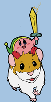 Kirby and his faithful steed by toadcroaker
