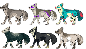 Adoptables 1 -closed- by SquiggleMutt