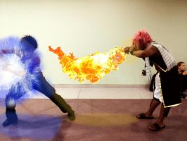 Gray and Natsu - Magic Battle by SpiderNhan