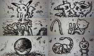 Wii U Pokemon doodles by KaiPackman