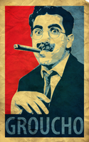 Groucho Marx Vector Poster by mikevectores