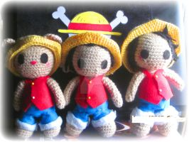 Luffy Plushies! by yoitekirali