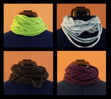 t-shirt scarves. by remy-lenour