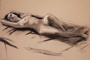 reclining nude Jan 2011 by humblestudent