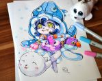 Chibi Pool Party Lulu by Lighane