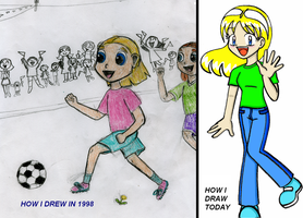 How I Drew In 1998 by SonicRocksMySocks