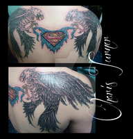 Skeleton Eagles with Superman Logo by Metacharis
