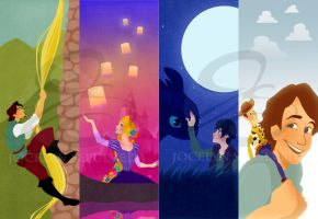 Non AND Disney Bookmarks by JoceyDraws