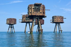 UK Maunsell Sea Forts (WW2 air defense) by ShitAllOverHumanity
